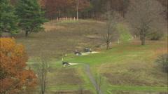 AERIAL United States-Saratoga National Battlefield 60 Stock Footage