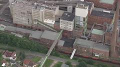 AERIAL Germany-Kali Und Salz Salt Works Stock Footage
