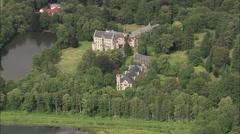 AERIAL Germany-Reinhardsbrunn Castle Stock Footage