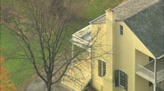 AERIAL United States-Thomas Cole House 45 Stock Footage