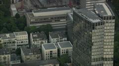 AERIAL Germany-Frankfurt At Dusk Stock Footage