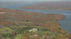 AERIAL United States-Hudson River Mansions 75 Stock Footage