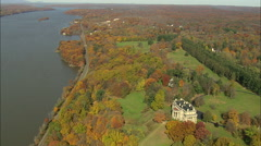 AERIAL United States-Vanderbilt Mansion 75 Stock Footage