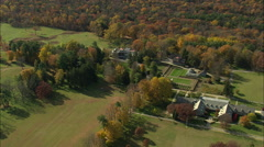 AERIAL United States-Franklin D Roosevelt National Historic Site 75 Stock Footage