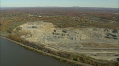 AERIAL United States-Quarry Near Crown Heights Stock Footage