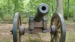3893 Revolutionary War Cannon in America, 4K Stock Footage