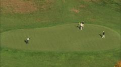 AERIAL United States-Hudson National Golf Club 60 Stock Footage