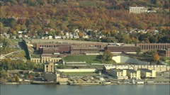 AERIAL United States-Sing Sing Correctional Facility 45 Stock Footage