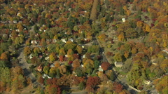 AERIAL United States-Old Dutch Church And Cemetery 75 Stock Footage