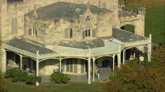 AERIAL United States-Lyndhurst Mansion 60 Stock Footage