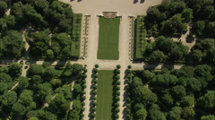 AERIAL Germany-Schwetzingen Castle Stock Footage