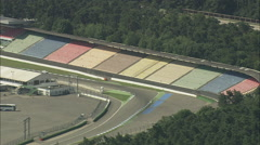 AERIAL Germany-Hockenheimring Race Track Stock Footage