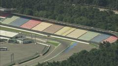 AERIAL Germany-Hockenheimring Race Track Stock Footage