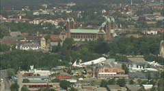 AERIAL Germany-Speyer Stock Footage