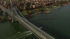 AERIAL United States-East River From 200Ft 60 Stock Footage