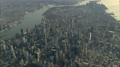 AERIAL United States-Midtown And Empire State Building From 5000Ft 45 Stock Footage