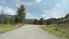 Mountain Road in Greece 06 Stock Footage