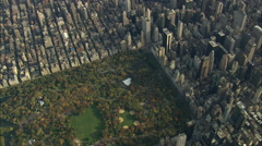 AERIAL United States-Central Park 75 - stock footage