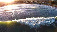 Pacifica Beach, California - Aerial HD Video - Coast, Waves and Surfers Stock Footage