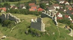 AERIAL Germany-Bopfingen Castle Stock Footage