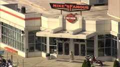 AERIAL United States-Mike's Famous Harley Davidson Centre - stock footage