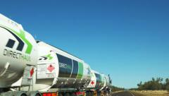Passing a road train Stock Footage