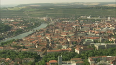 AERIAL Germany-Wurzburg Stock Footage