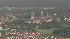 Michaelsberg Abbey And Bamberg Cathedral Stock Footage