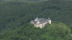 AERIAL Germany-Schloss Waldeck Stock Footage