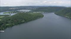 AERIAL Germany-Edersee Lake Stock Footage
