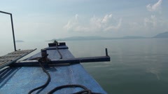 View of Lake Taal from Banca. Stock Footage