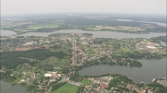 AERIAL Germany-Approaching Werder And Island Stock Footage