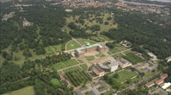 AERIAL Germany-New Palace Stock Footage