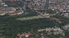 AERIAL Germany-Charlottenburg Palace Stock Footage