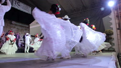 Dancers in a traditional mexican dance festival Stock Footage