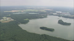 AERIAL Germany-Mecklenburg Lake District Stock Footage