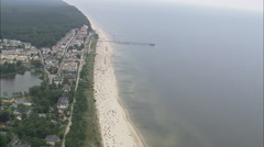 Crowded Beach At Seebad Heringsdorf And Bansin Stock Footage