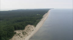 AERIAL Germany-The Beach Near Uckeritz Stock Footage