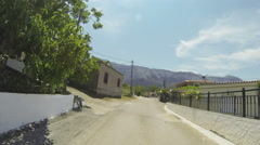 Mountain Road in Greece 08 Stock Footage