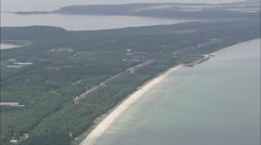 AERIAL Germany-Prora And Nazi Beach Resort Stock Footage