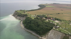 AERIAL Germany-Cape Arkona Stock Footage