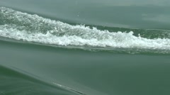 The wake from a fast moving Banca Stock Footage