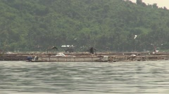 Fish Farming in Lake Taal, Philippines Stock Footage
