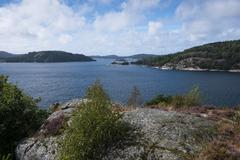 Islands in an archipelago view from the island of Orust Vastra Gotaland - stock photo