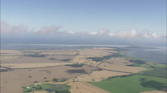 AERIAL Germany-Above The Clouds Over West Pomerania Stock Footage