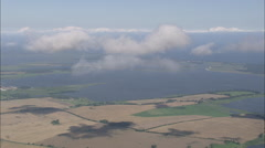 AERIAL Germany-Clouds Over Coastline Stock Footage