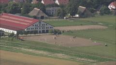 AERIAL Germany-Riding Centre In Diedrichshagen Stock Footage