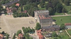 AERIAL Germany-Ludwigslust Palace - stock footage