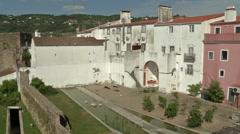Walls of Portalegre Alentejo panoramic - stock footage