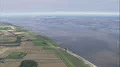 AERIAL Germany-East Frisian Islands And Sand Bars Stock Footage